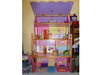 Barbie doll large house