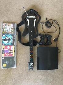 PS3 with games & controllers