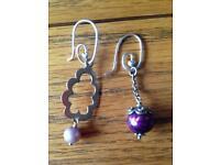 Two pairs of Pandora earrings