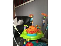 Baby items -jumperoo,walker,ring, bumbo seat with tray & activity table