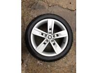 Seat Leon FR 2017 2018 2019 2020 genuine 17 inch alloy wheel with Bridgestone tyre