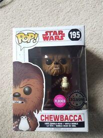 Star Wars Chewbacca Exclusive Flocked Pop Vinyl: 195
