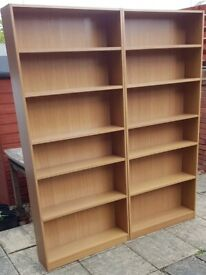2 bookcases / shelving unit (£19 each) (£35 for both). Adjustable shelves. Very good condition.