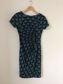 Fever green, black and blue smart dress - size 8. Never worn - with tags