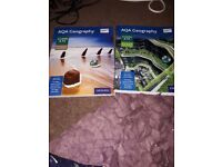 A level and AS level AQA human and physical geography textbooks