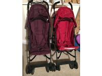 2x Mothercare Pushchairs