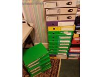 Box Files and Lever Arch Files - assorted colours - mostly foolscap