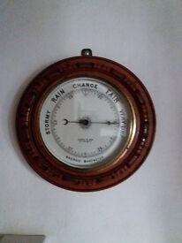 Large Wooden barometer