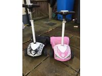 Electric chad valley scooters pink and black