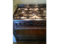 Smeg 90cm Freestanding Dual Fuel 5 hob single oven cavity cooker SUK91MFX Stainless Steel to collect