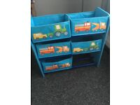 Kids storage boxes and shelving