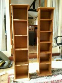 DVD and CD Wooden Storage Towers