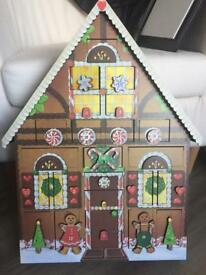 Advent calendar wooden traditional