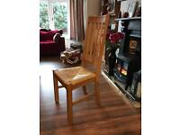 Oak Chairs with rattan seats