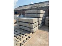 🌞 Reinforced 6x1 Concrete Fencing Base Panels / Gravel Boards - Rockface