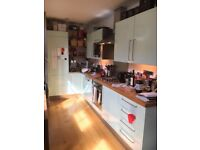Kitchen units, sink, tap, splashback and cooker hood - available first week in October
