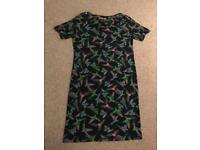 BIBA tropical bird pattern dress - UK 8