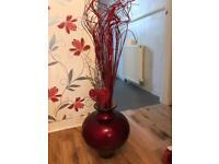Lovely big red vase