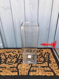 Glass tall vase