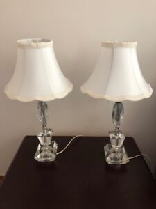 Crystal contemporary bedside lamps