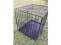Dog crate. Puppy training cage