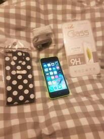 APPLE IPHONE 5C, 16GB, UNLOCKED, EXCELLENT CONDITION, WITH NEW ACCESSORIES