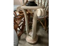 Vintage Marble style plant stand/lamp table