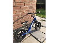 Boys blue strider balance bike