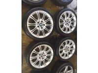 "18"" GENUINE BMW MSPORT MV2 ALLOY WHEELS E46 SET OF 4"