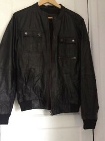 Mens River Island Leather jacket