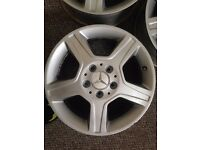 "4 Mercedes alloy wheels 16"" for sale"