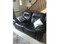 2 DFS LEATHER 2 seater sofas