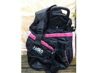 Diving gear - Tusa liberator bcd, wetsuit and wetsuit jacket, wetsuit boots
