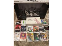 Nintendo WII bundle includes Beatles Rockband, 2x guitars, 2 x controllers, 15 games