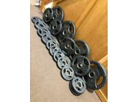 Olympic Rubber Radial Weights Set. •Can Deliver•