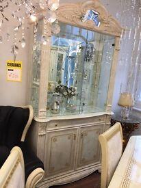Elizabeth Italian 2 Door Display Cabinet(Ex-Display)