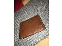 Genuine Mulberry wallet - 8 card 'chocolate' natural