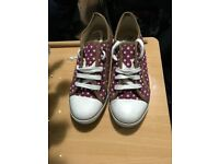 Red polka dots Trainer Shoes 6