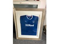 Signed framed 2017 Rangers Top