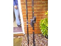 Carp rods and reels x2