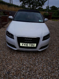 AUDI A3 CONVERTIBLE WHITE WITH BLACK ROOF £5995 ONO FULL SERVICE HISTORY