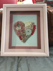 Hand made heart picture