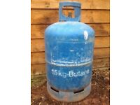 BUTANE 15KG EMPTY GAS BOTTLE £15 COLLECTION ONLY THIS IS THE 3RD BOTTLE OF THIS SIZE I HAVE FOR SALE