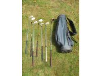 Golf Clubs and Bag , including wedge , putter and irons