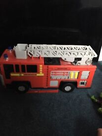 Electronic fire engine with real water pump