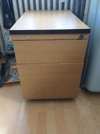 Small filing cabinet and drawer unit