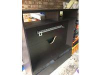 "Large Ikea Besta TV cabinet unit fits up to 47"" TV Brown/black"