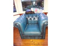 Chesterfield armchair in good condition. Has a couple of buttons missing and needs 2 castors.