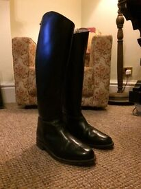 Regents Black Leather Riding Boots