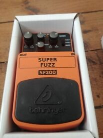Behringer SF300 Superfuzz Pedal as new/Boxed
